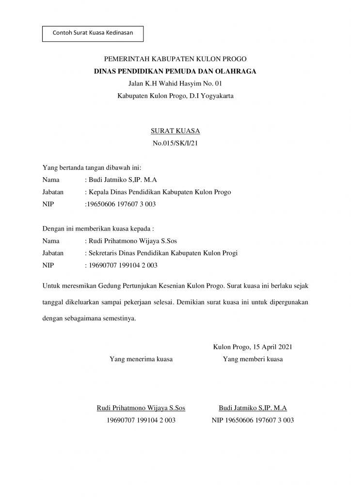 11++ Contoh surat kuasa e court terbaru yang baik dan benar